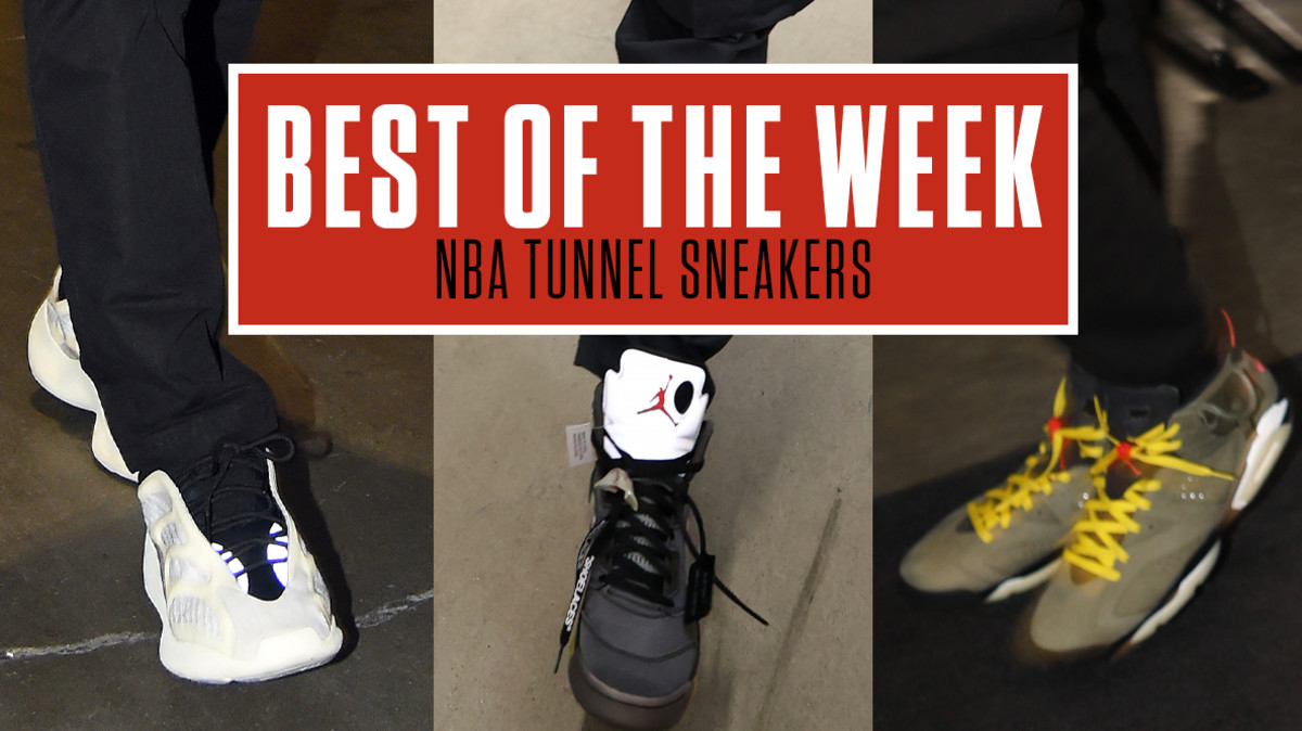 Best Sneakers in the NBA Tunnel This Week: Off-White x Air Jordan V, Adidas Yeezys & More