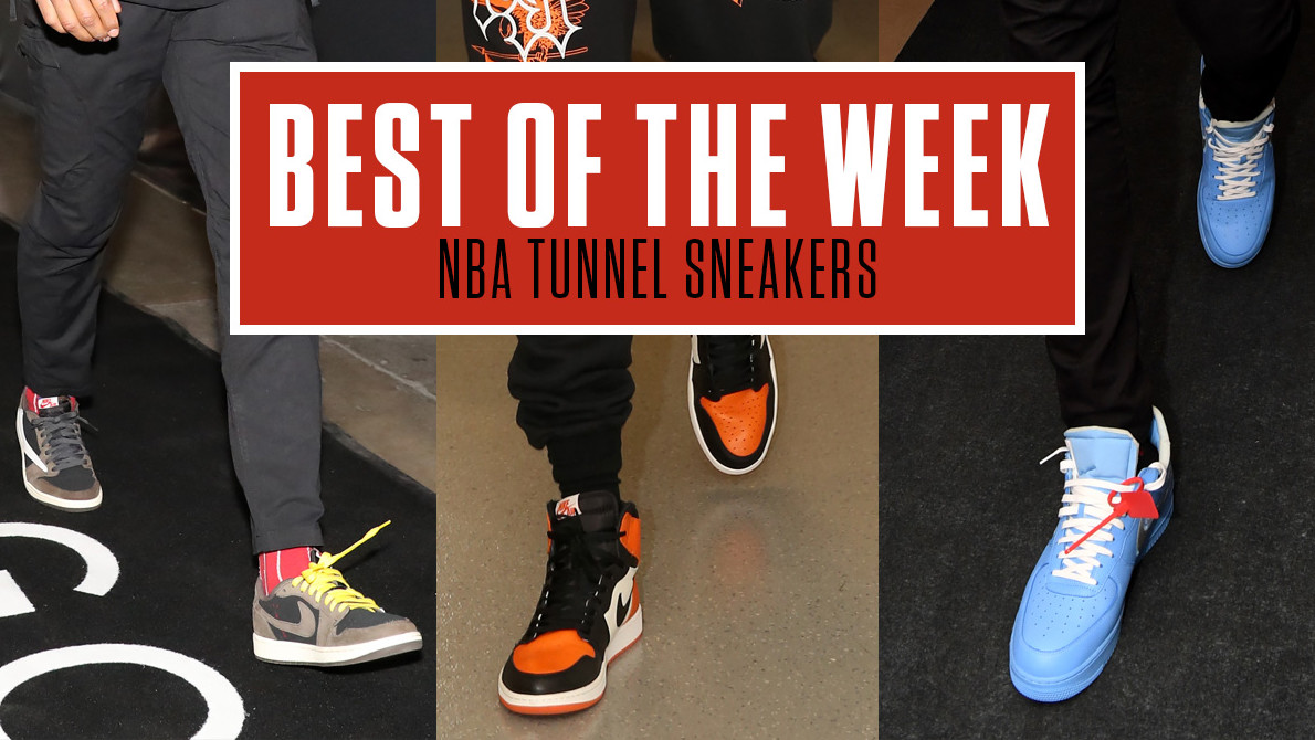 Best Sneakers in the NBA Tunnel This Week: Off-White x Nike, KAWS x Air Jordan IV & More