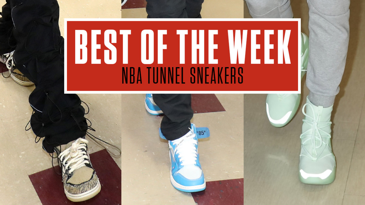 Best Sneakers in the NBA Tunnel This Week: Travis Scott x Nike SB, Nike Air Fear of God I & More