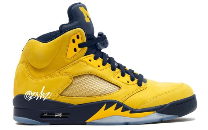 4871e6f9de2065 air-jordan-5-retro-sp-michigan-2019-cq9541-. Image via zsneakerheadz