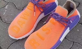 Pharrell x Adidas NMD HU Orange Purple Dawn Rise