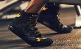 Under Armour The Rock Sneakers On Feet