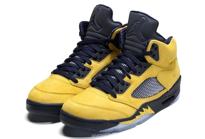timeless design 0809a 2209b Air Jordan 5 SP  Michigan  CQ9541-704