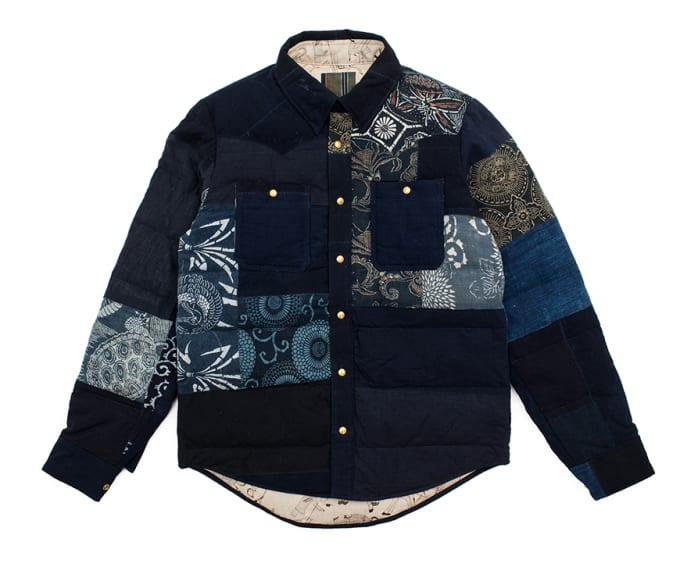 Visvim Kerchief Down Jacket Kofu (Indigo Patch)