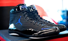 Andre Ward Air Jordan Space Jam Boxing Boots Side