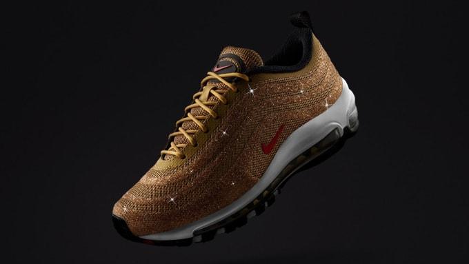 b8a8491d7 Swarovski x Nike Air Max 97  Gold
