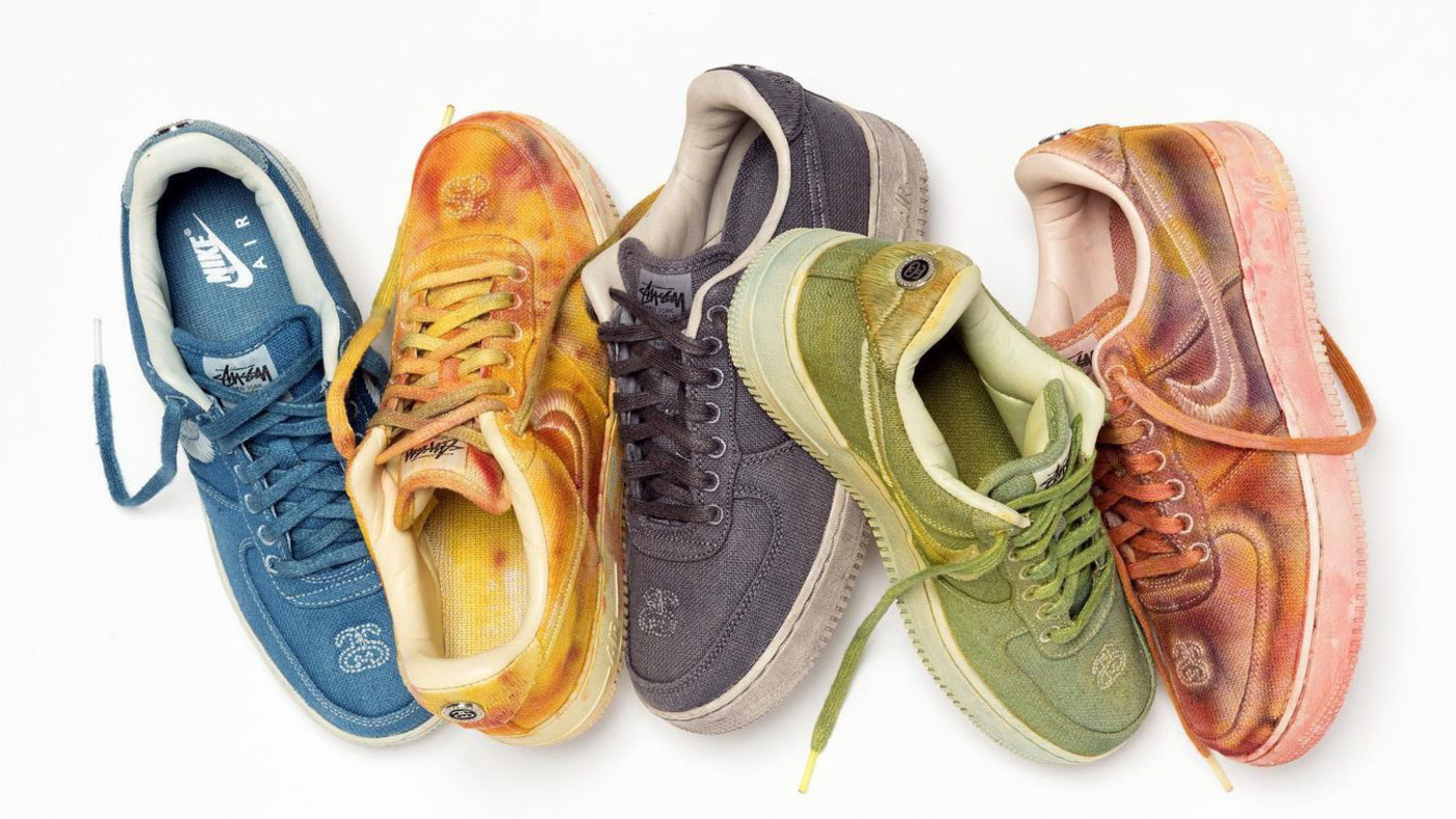 Stussy x Nike Air Force 1 Dyed Release Date