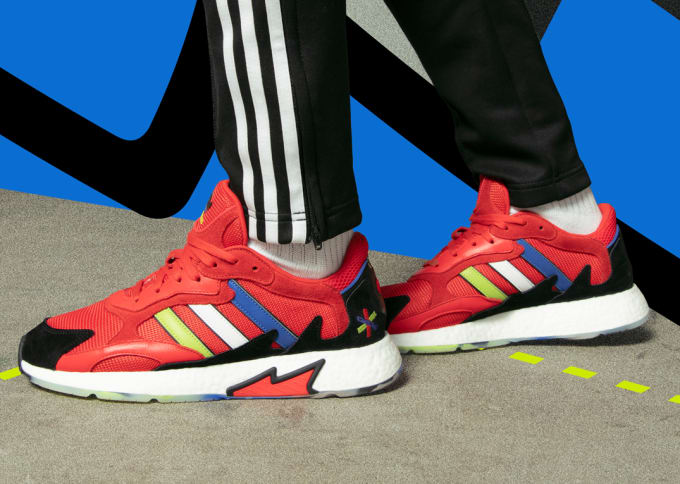 f14e6a06f6e3a adidas Originals and Foot Locker Drop a Limited-Edition  Red  TRESC Run to  Launch the