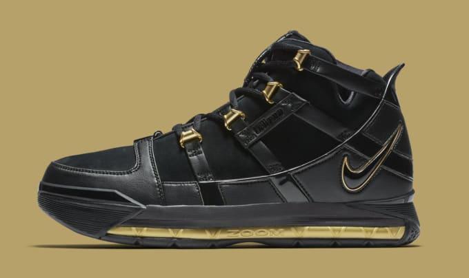 4fbba09868824 Nike LeBron 3  Black Gold  Retro AO2434-001 ...