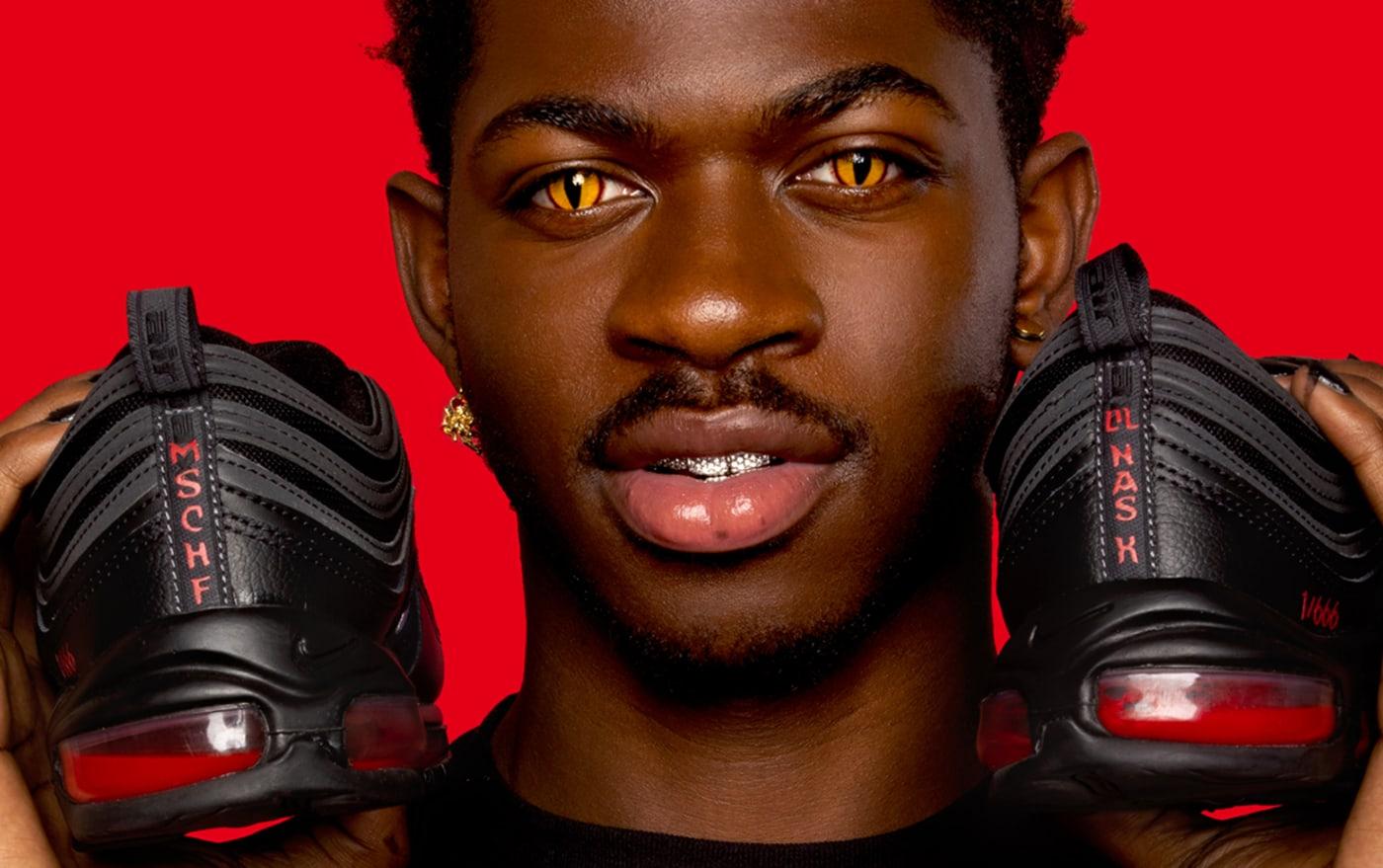 Lil Nas X Nike Satan Sneaker Air Max 97 heel