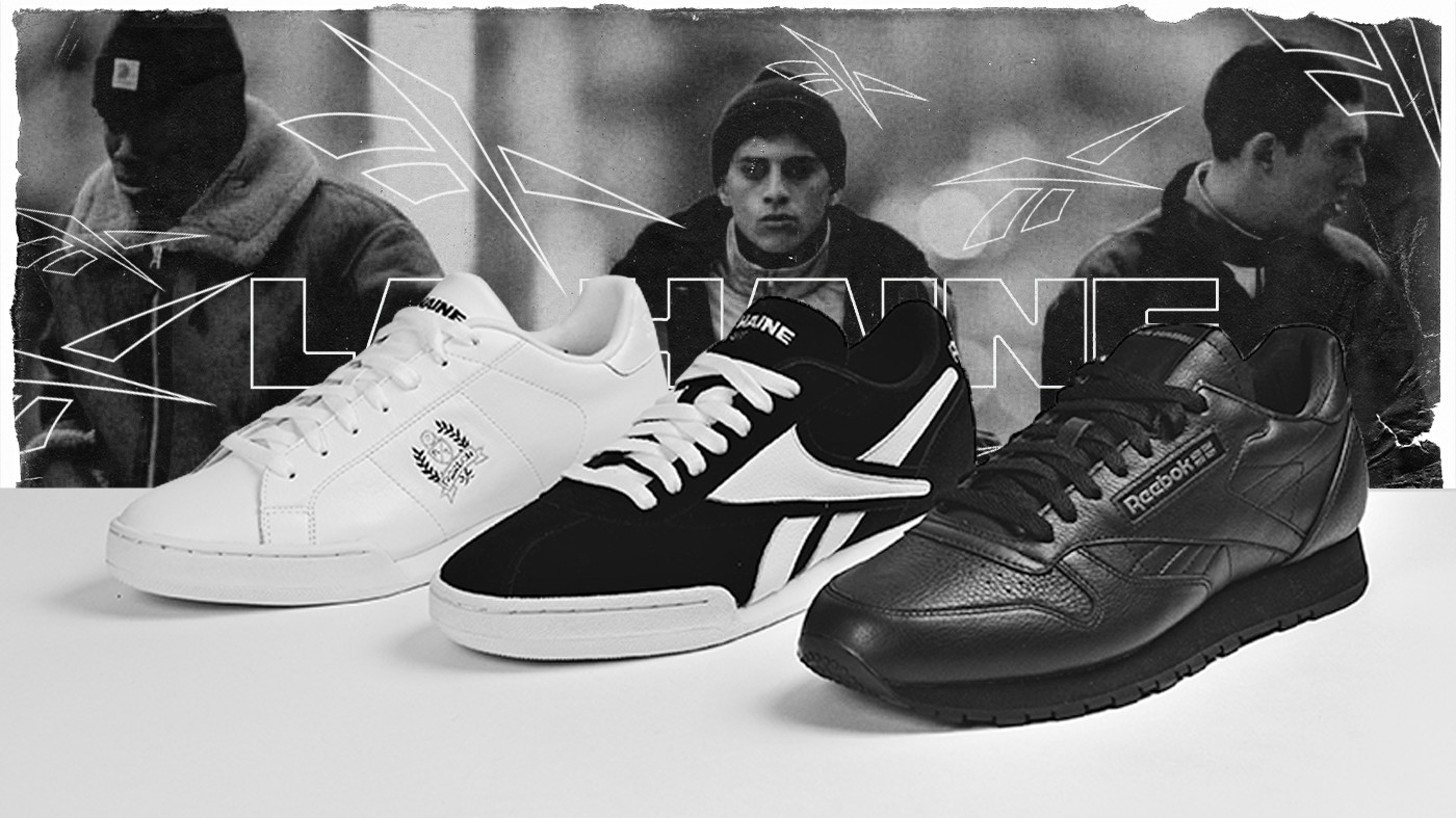 La Haine x Reebok sneakers created for the movie's 25th anniversary