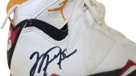 5b2cf27cc0db13 Michael Jordan Game-Worn Air Jordan 7 Cardinal Auction (2)