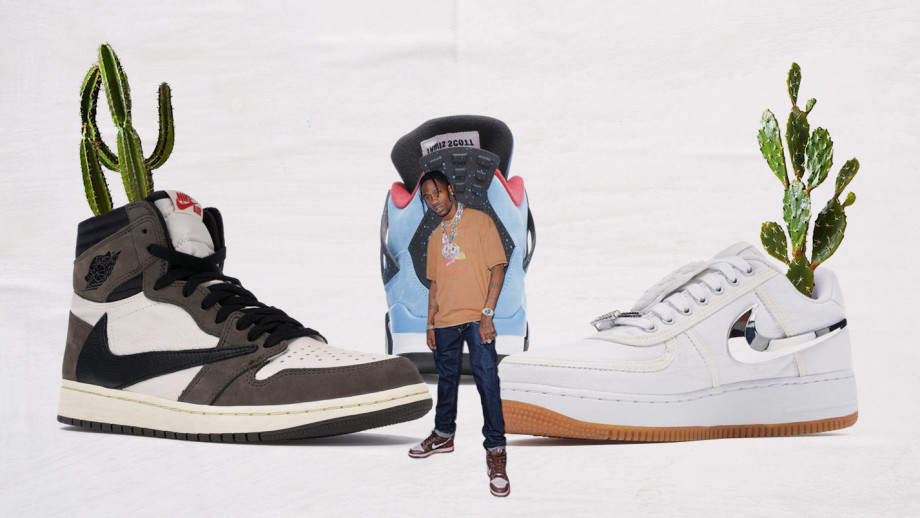 Sneaker artist collaboration travis scott air jordan hollywood branded blog