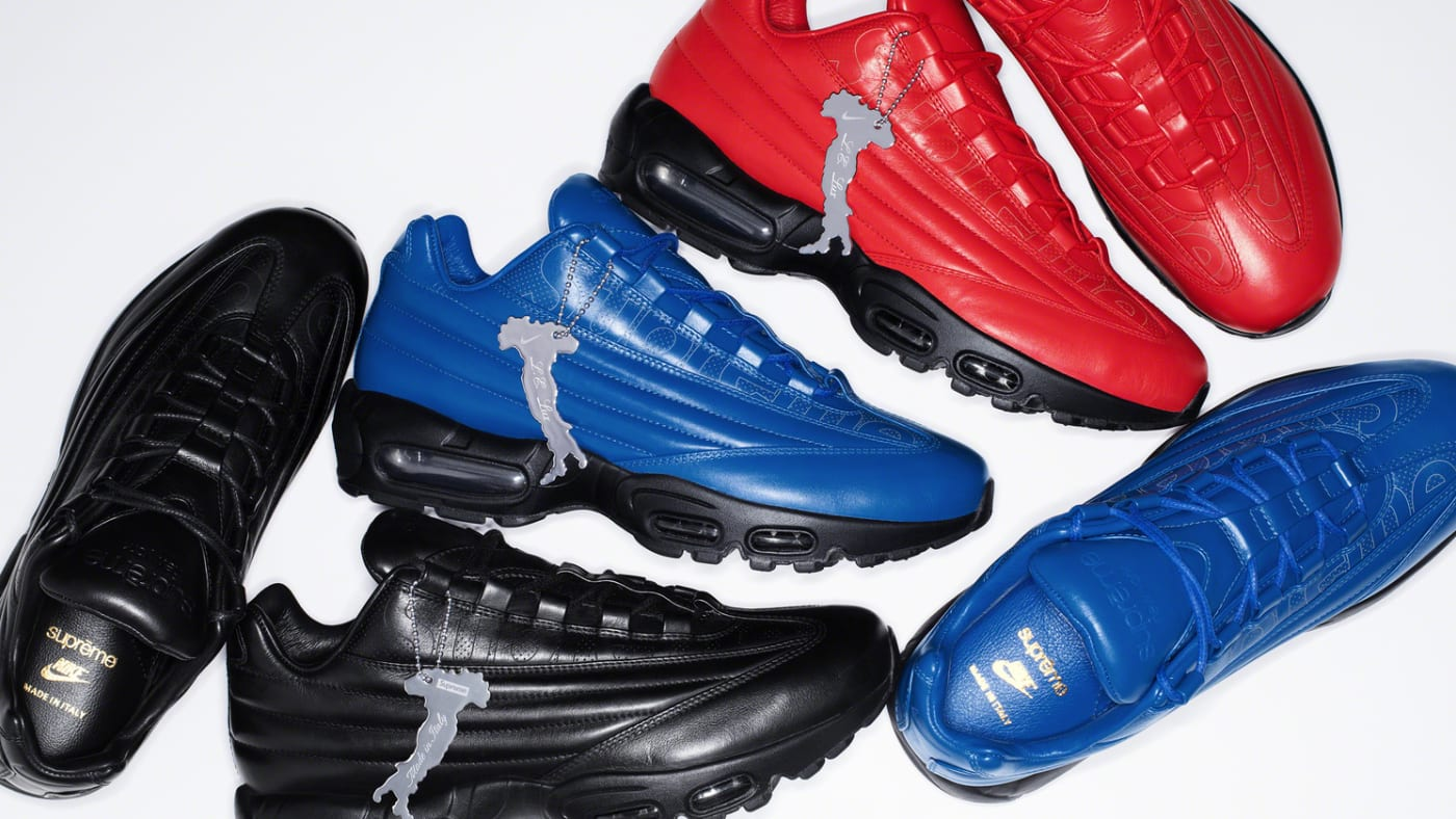 supreme nike air max 95 lux collection