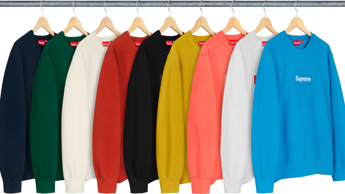 d92361e12315 Best Style Releases This Week  Supreme Box Logo Crewnecks