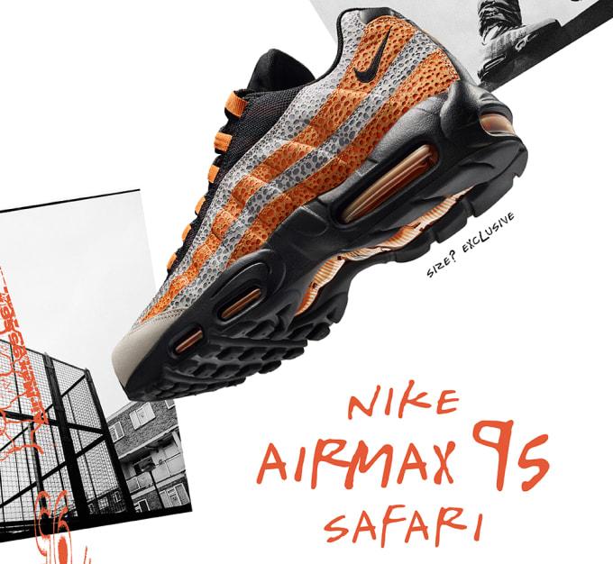 Nike Air Max 95  Safari  size  exclusive 33ecfb682afb