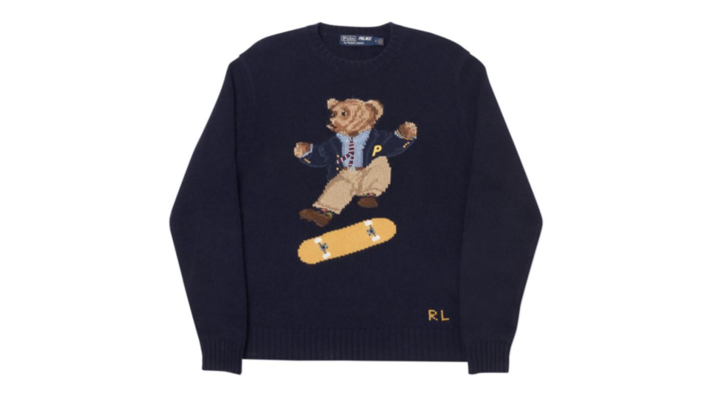 Palace x Polo Ralph Lauren Skate Bear Sweater