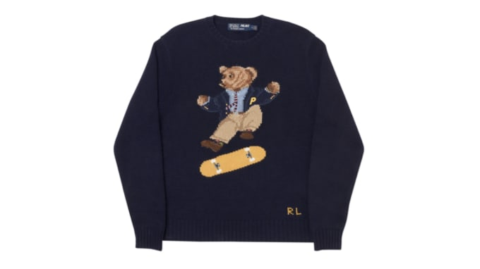 95ab89af257 Palace x Polo Ralph Lauren Skate Bear Sweater. Image via Palace Skateboards