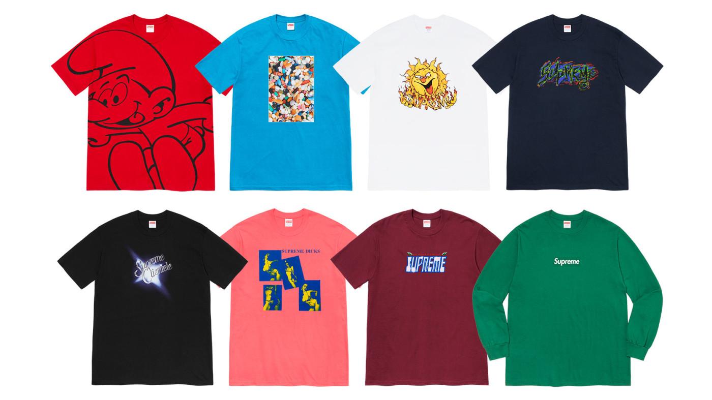 Supreme Fall 2020 T-shirts