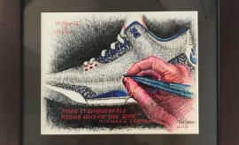 Tinker Hatfield Air Jordan 3 Drawing Make-a-Wish Charity