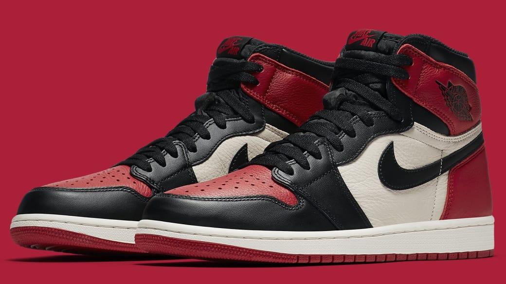 Air Jordan 1 'Bred Toe' Gym Red/Black-Summit White 555088-610 (Pair)