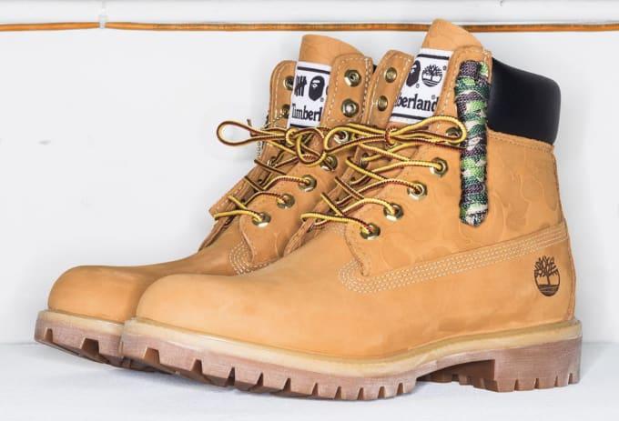 """UNDFTD x Bape x Timberland 6"""" Boot"""