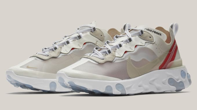new style 23d7c 05aa1 Nike React Element 87  Sail Light Bone White Rush Orange Black
