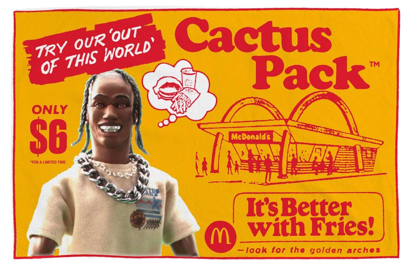 Travis Scott x McDonald's Blanket