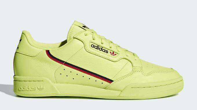 6c33dccf4c12 Adidas Continental 80  Semi Frozen Yellow