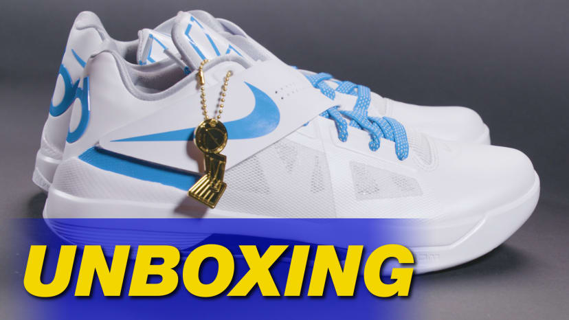 sale retailer 1ac99 c942a Nike KD 4 Retro  Art of a Champion  Unboxing Thumb