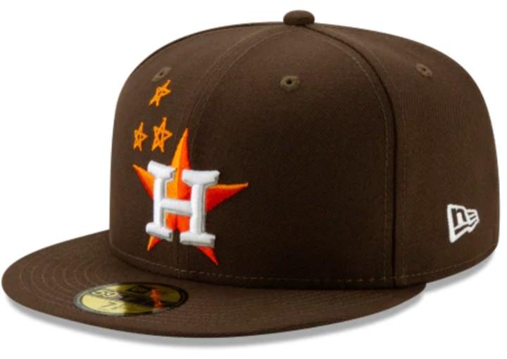 Travis Scott x New Era 59Fifty Fitted Hat 'Astros/Brown'
