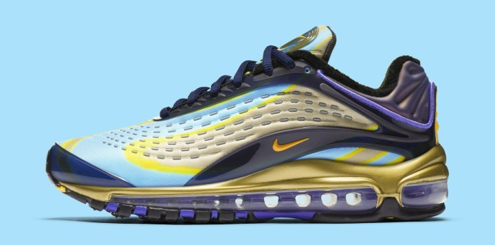 Nike Air Max Deluxe 'Midnight Navy/Laser Orange' AQ1272-400 (Lateral)