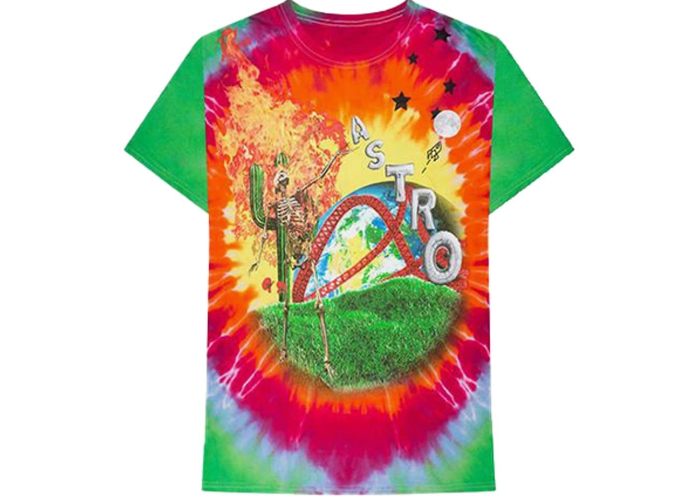 Astroworld Rainbow Tie Dye T shirt