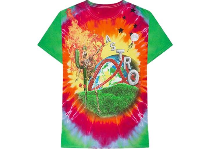 Astroworld Rainbow Tie Dye T-shirt