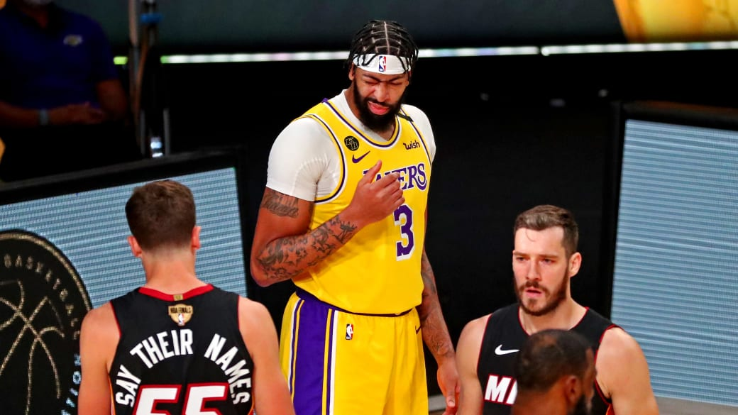 Anthony Davis Heat Lakers Game 1 NBA Finals 2020