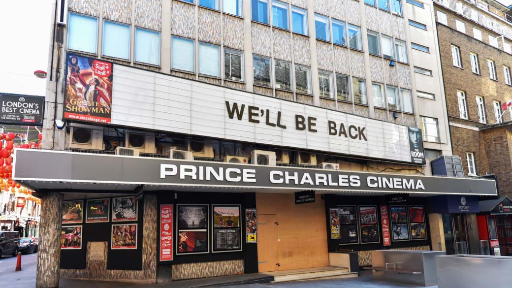 The Prince Charles cinema in London during the Coronavirus Lockdown