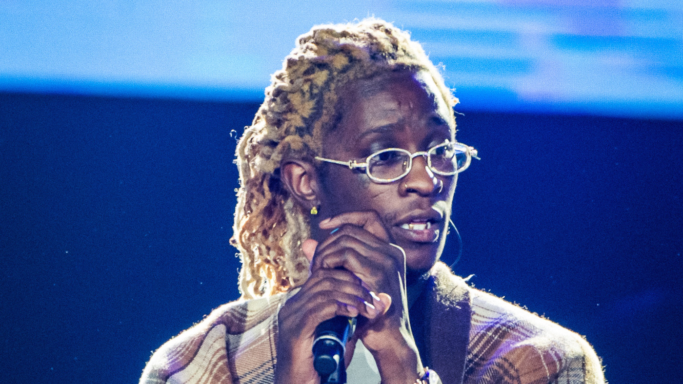 Young Thug performs during Day 1 of Redfestdxb