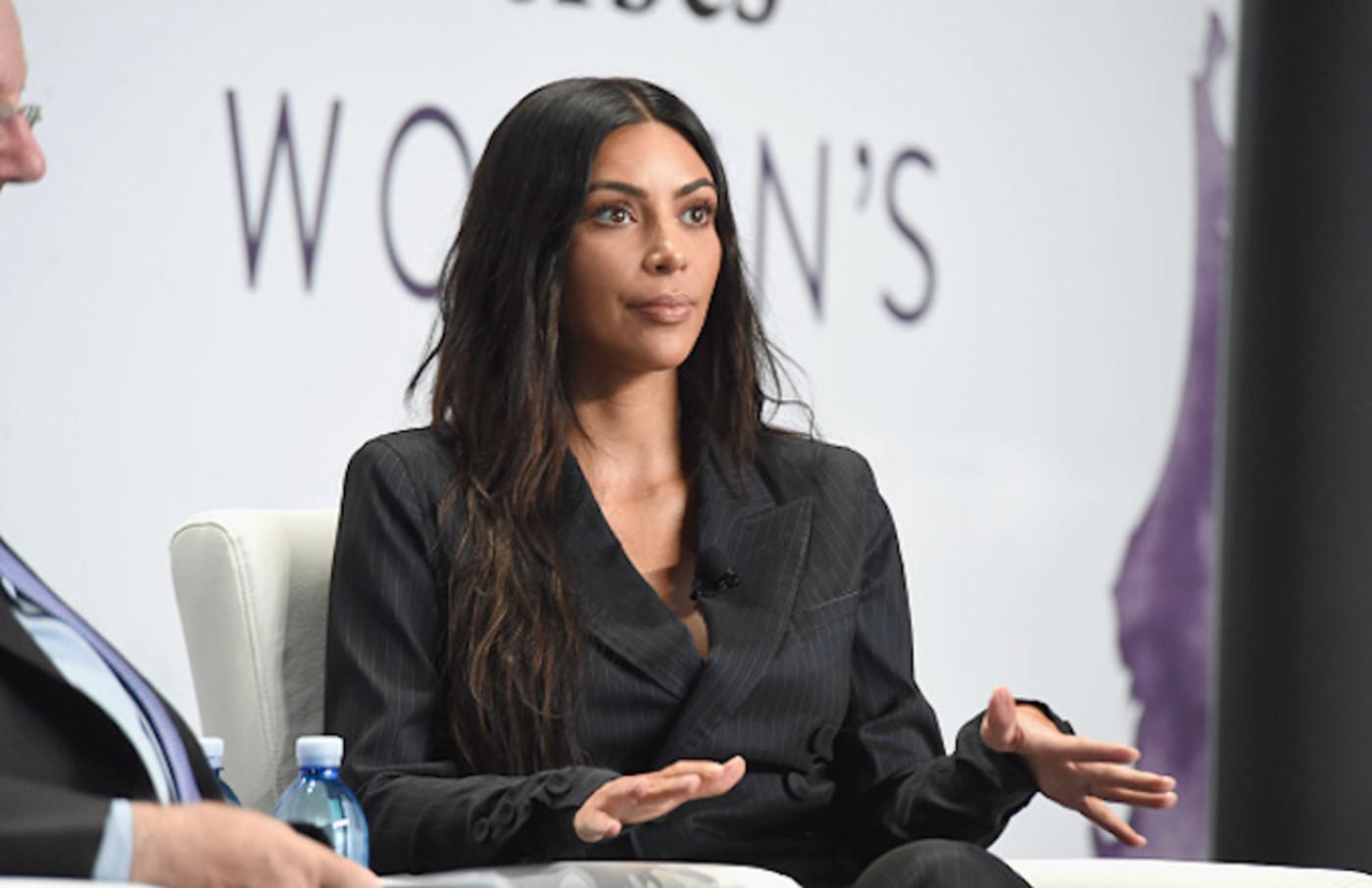 Kim Kardashian West speaks during the the 2017 Forbes Women's Summit