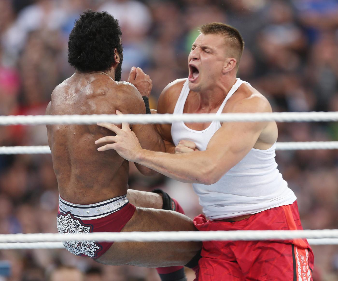 Rob Gronkowski WrestleMania 33 Orlando 2017