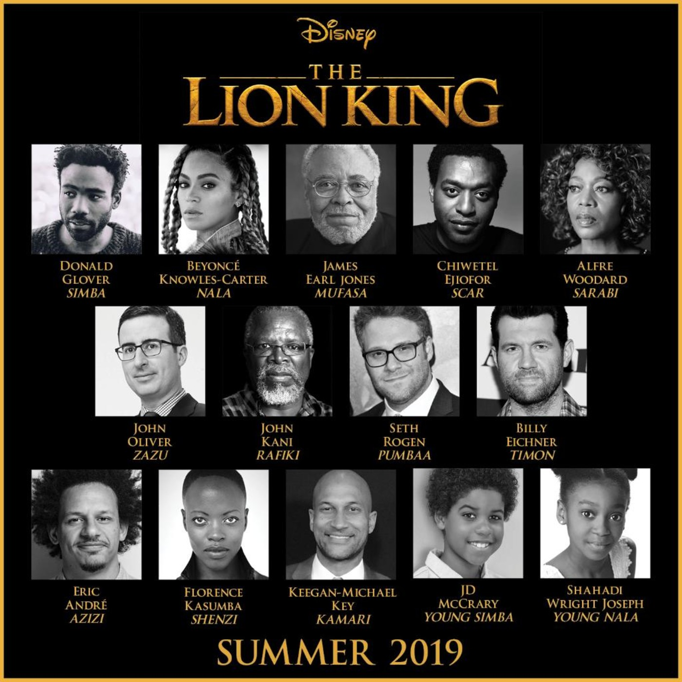 Disney Unveils The Lion King Cast Featuring Donald Glover And Beyonce Complex