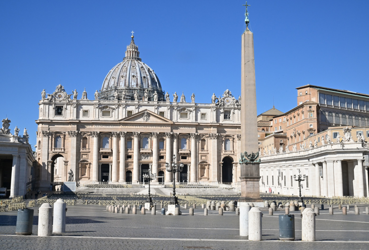 Deserted St. Peter's basilica during coronavirus outbreak