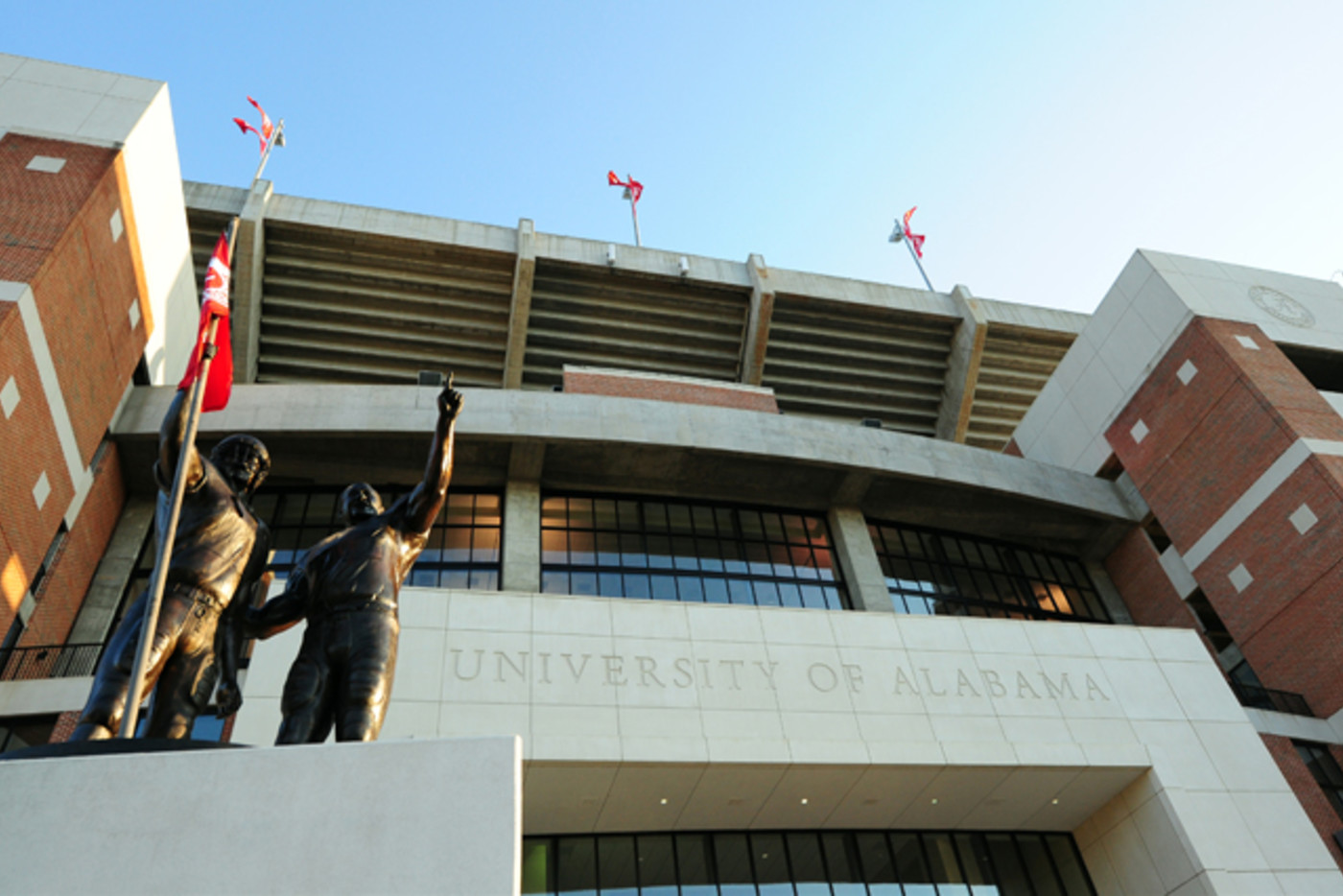 A general view outside Bryant-Denny Stadium on campus of the University of Alabama