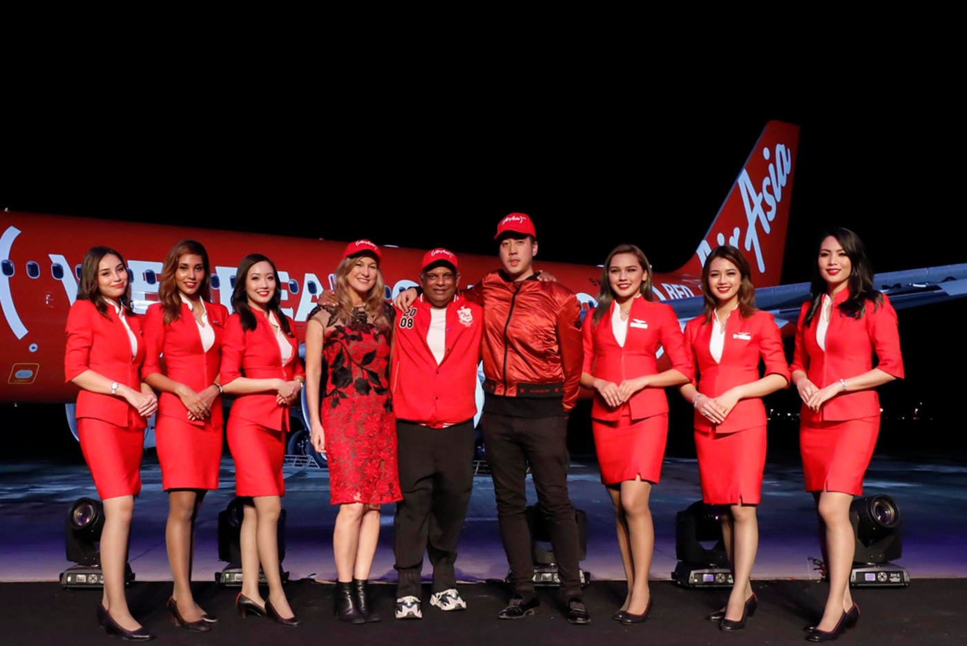 Sean Miyashiro of 88rising with the CEOs of Air Asia and RED