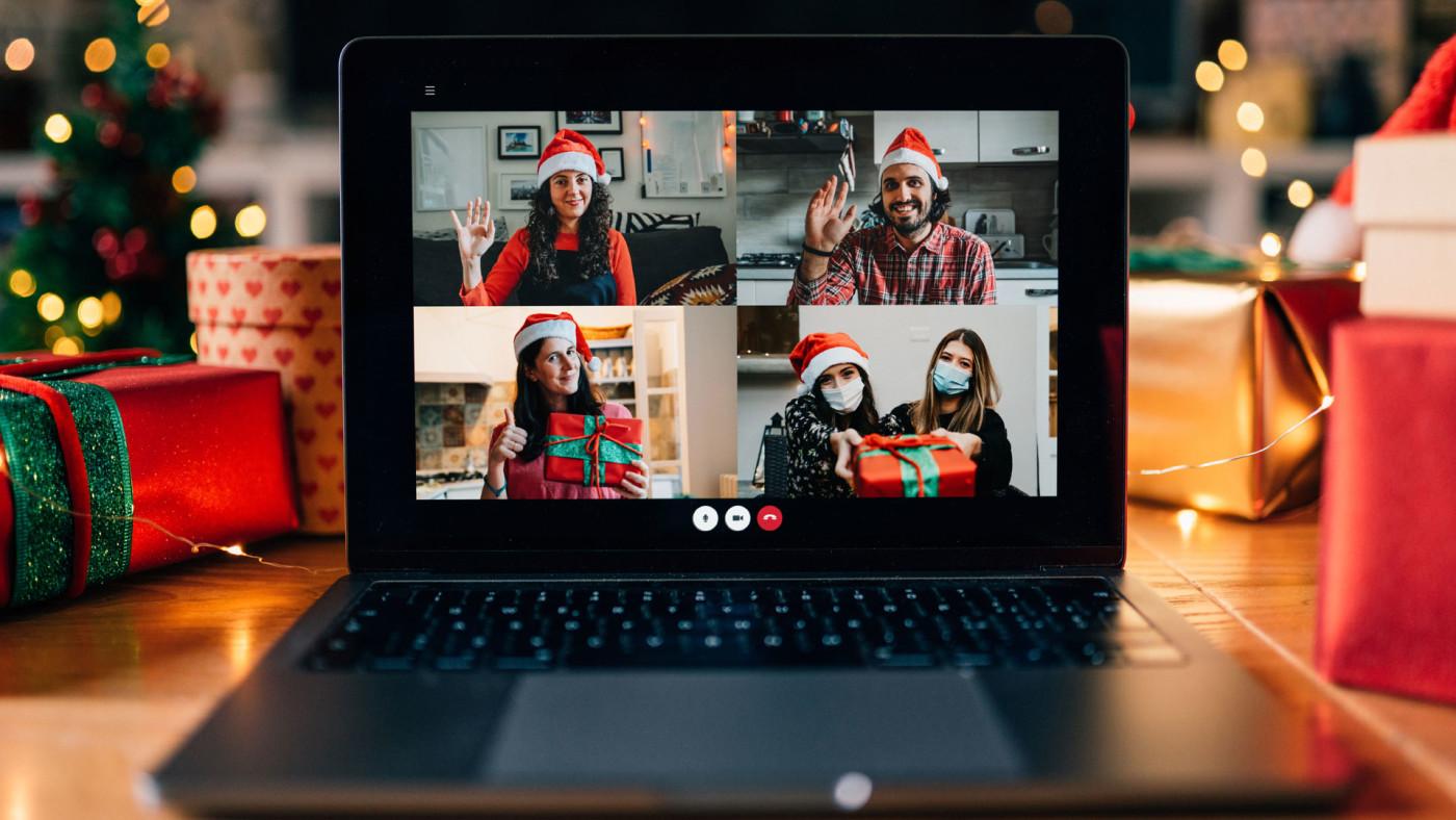 Christmas Zoom call.