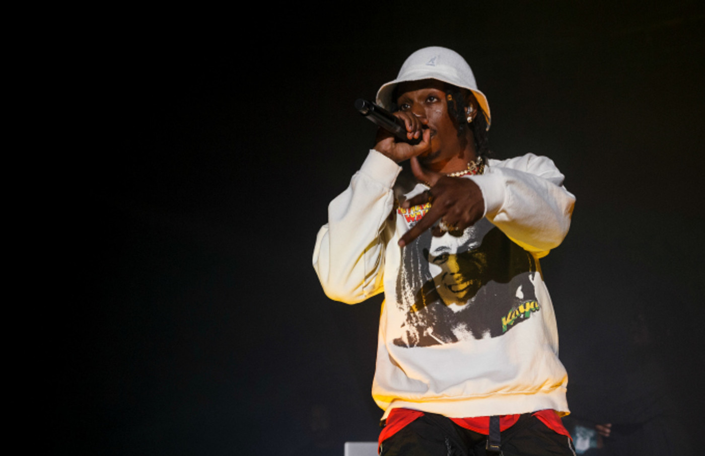 Rapper Joey Bada$$ performs on stage at PNE Forum