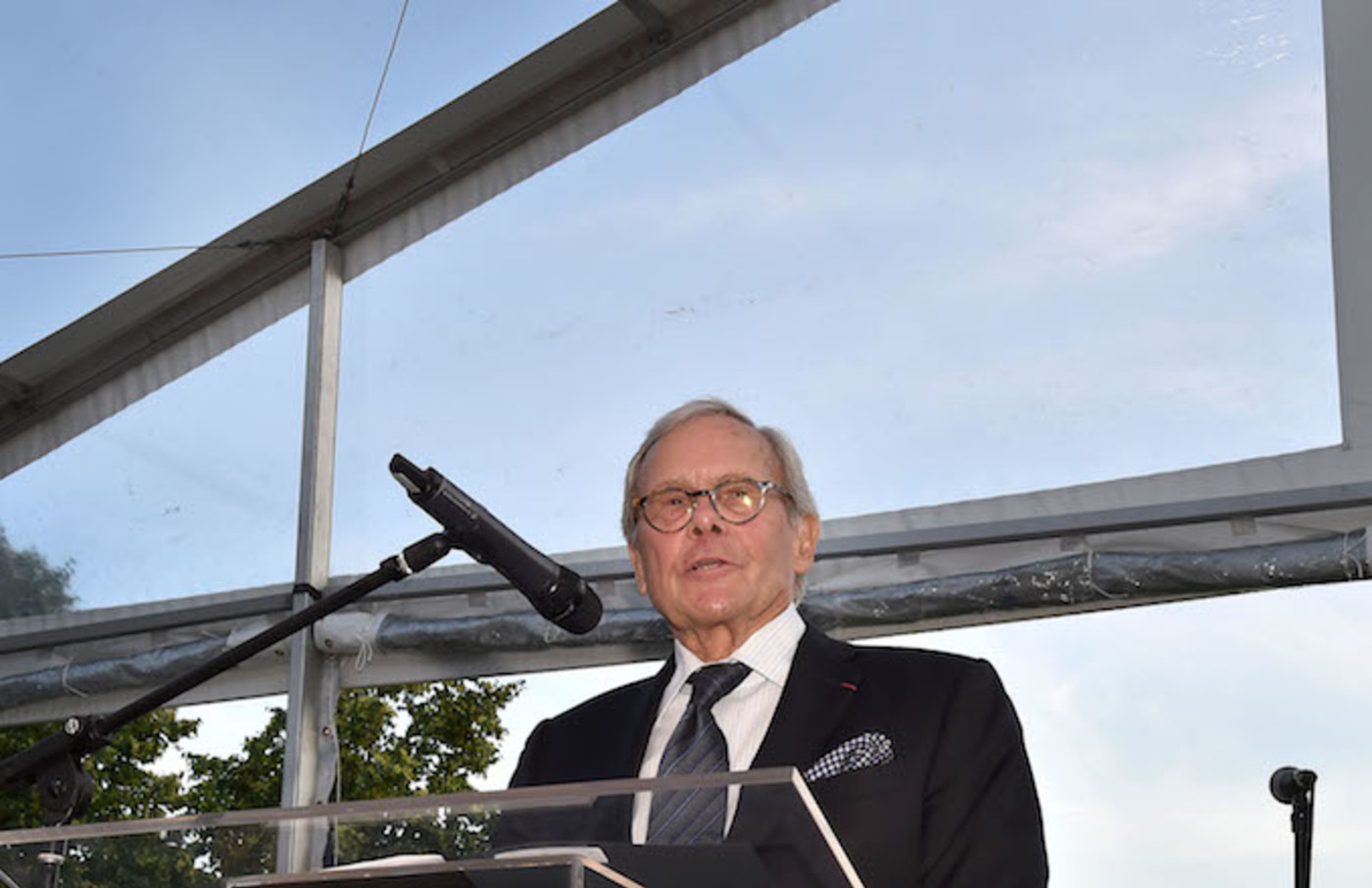Tom Brokaw attends the Four Freedoms Park Conservancy's Sunset Garden Party.