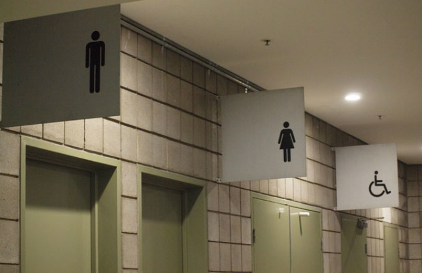 Bathroom signs.