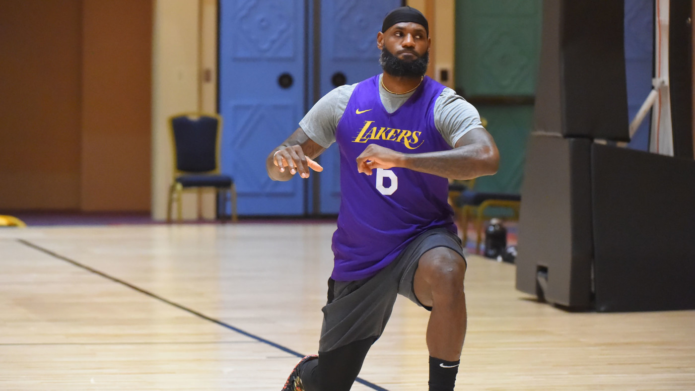 LeBron James training