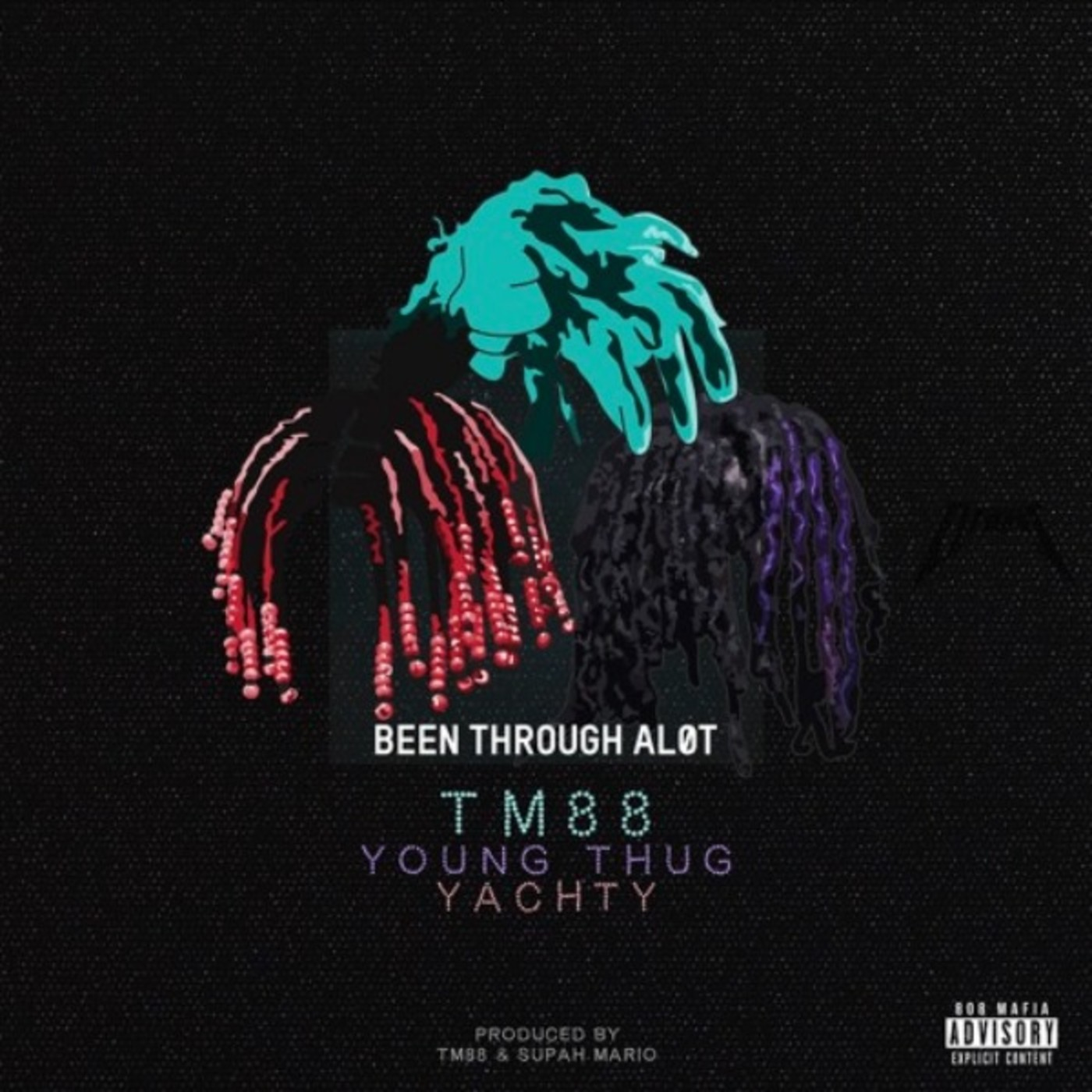"""TM88's """"Been Thru A Lot"""" cover art featuring Young Thug and Lil Yachty."""