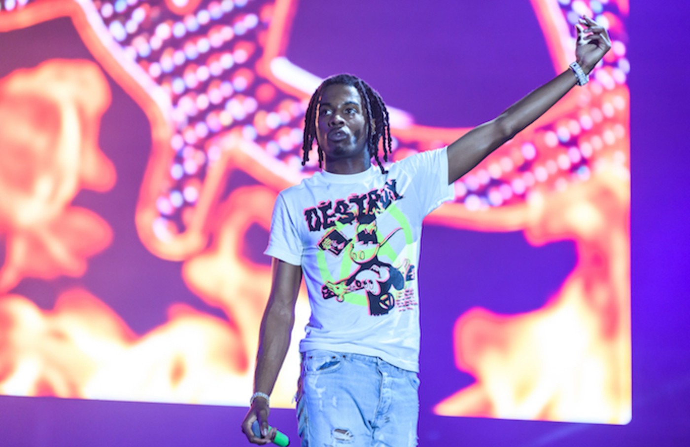 Playboi Cartii performs during day three of Rolling Loud.